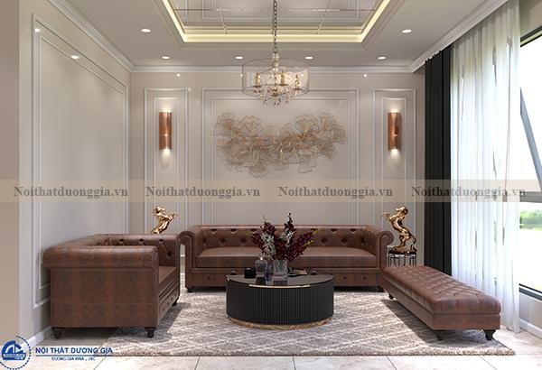 Thiết kế nội thất gia đình NTGD-DG06 - phòng khách (góc chụp 1)