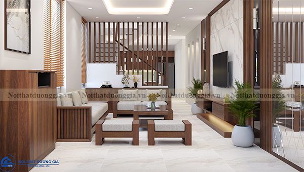 Thiết kế nội thất gia đình NTGD-DG07 - Phòng khách (view 2)