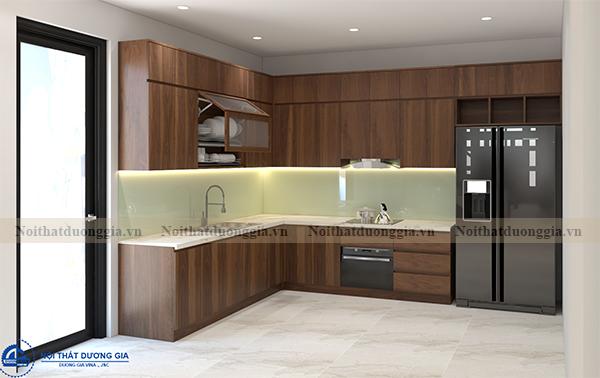 Thiết kế nội thất gia đình NTGD-DG07 - Phòng bếp (view 2)