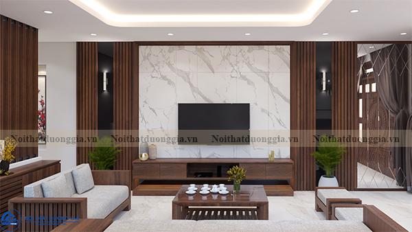 Thiết kế nội thất gia đình NTGD-DG07 - Phòng khách (view 1)