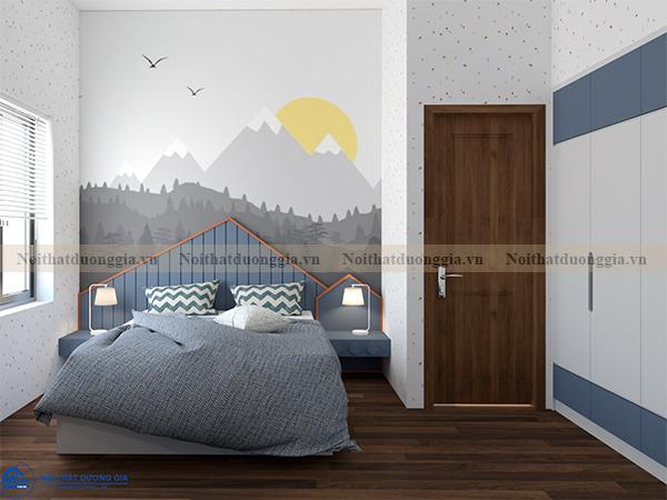 Thiết kế nội thất gia đình NTGD-DG07 - Phòng ngủ con 1 (view 3)