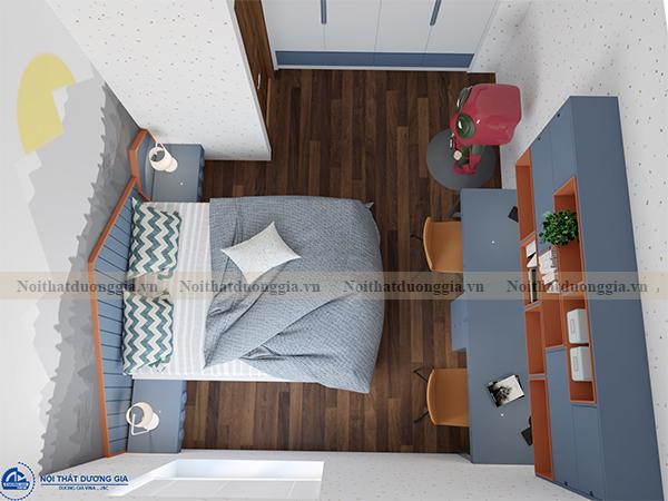 Thiết kế nội thất gia đình NTGD-DG07 - Phòng ngủ con 1 (view 2)