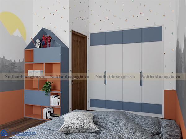 Thiết kế nội thất gia đình NTGD-DG07 - Phòng ngủ con 2 (view 2)