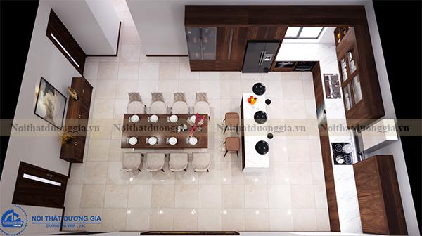 Thiết kế nội thất phòng bếp NTDG-DG09 (view 1)