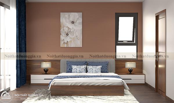Thiết kế nội thất phòng ngủ gia đình NTGD-DG10 - phòng ngủ 1 (view 1)