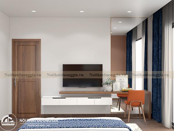 Thiết kế nội thất phòng ngủ gia đình NTGD-DG10 - phòng ngủ 1 (view 3)