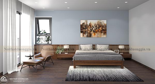 Thiết kế nội thất phòng ngủ gia đình NTGD-DG10 - phòng ngủ 2 (view 1)