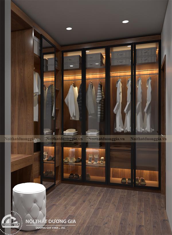 Thiết kế nội thất phòng ngủ gia đình NTGD-DG10 - phòng ngủ 2 (view 4)