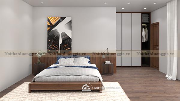 Thiết kế nội thất phòng ngủ gia đình NTGD-DG10 - phòng ngủ 3 (view 2)