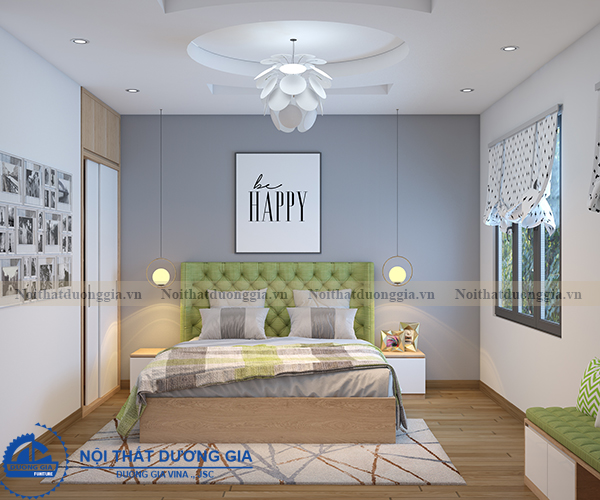 Thiết kế nội thất gia đình NTGD-DG11- phòng ngủ con gái 1 (view 1)