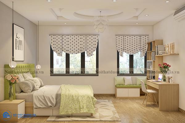 Thiết kế nội thất gia đình NTGD-DG11- phòng ngủ con gái 1 (view 2)