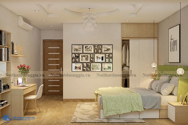 Thiết kế nội thất gia đình NTGD-DG11- phòng ngủ con gái 1 (view 3)