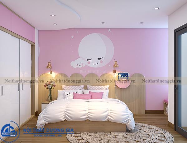 Thiết kế nội thất gia đình NTGD-DG11- phòng ngủ con gái 2 (view 4)