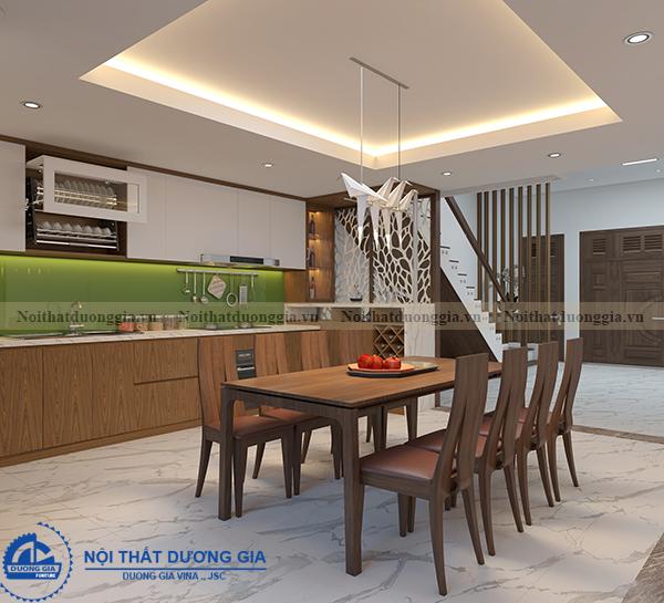 Thiết kế nội thất gia đình NTGD-DG11- phòng bếp (view 1)