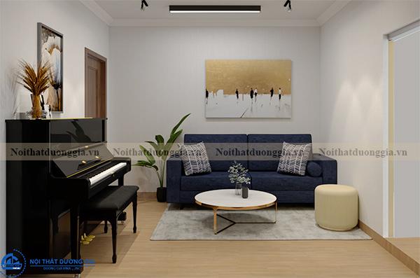 Thiết kế nội thất gia đình NTGD-DG13 - phòng khách (view 1)
