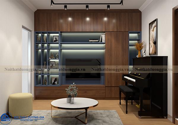 Thiết kế nội thất gia đình NTGD-DG13 - phòng khách (view 2)