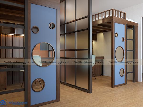 Thiết kế nội thất gia đình NTGD-DG13 - phòng ngủ con 1 (view 2)