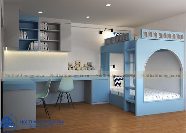 Thiết kế nội thất gia đình NTGD-DG13 - phòng ngủ con 2