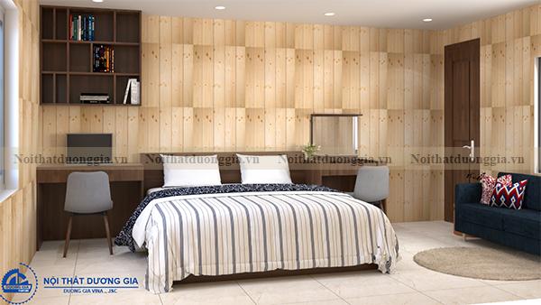 Thiết kế nội thất gia đình NTGD-DG13 - phòng master (view 1)