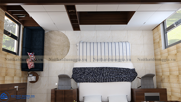 Thiết kế nội thất gia đình NTGD-DG13 - phòng master (view 2)