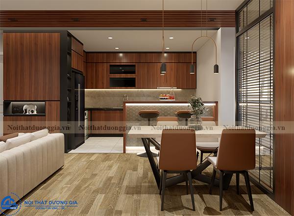 Thiết kế nội thất gia đình NTGD-DG14 - phòng bếp (view 1)
