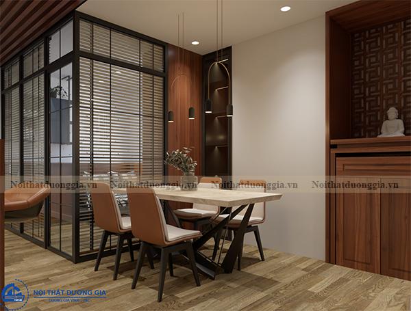 Thiết kế nội thất gia đình NTGD-DG14 - phòng bếp (view 2)