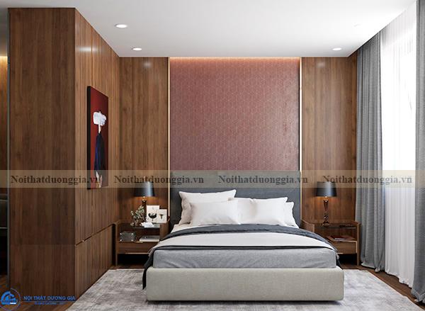 Thiết kế nội thất gia đình NTGD-DG14 - phòng ngủ 1 (view 1)