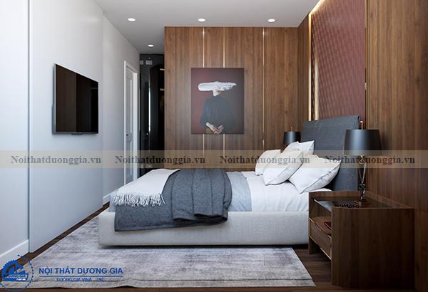 Thiết kế nội thất gia đình NTGD-DG14 - phòng ngủ 1 (view 2)