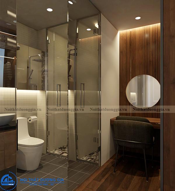 Thiết kế nội thất gia đình NTGD-DG14 - phòng ngủ 1 (view 4)