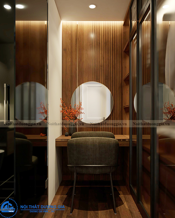 Thiết kế nội thất gia đình NTGD-DG14 - phòng ngủ 1 (view 3)