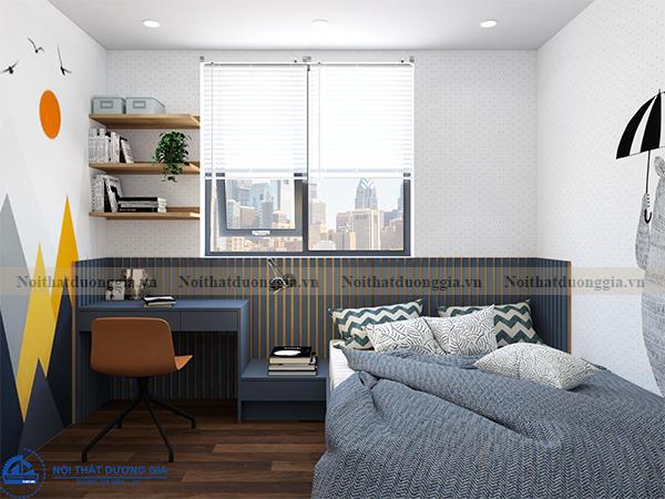 Thiết kế nội thất gia đình NTGD-DG14 - phòng ngủ 2 (view 2)