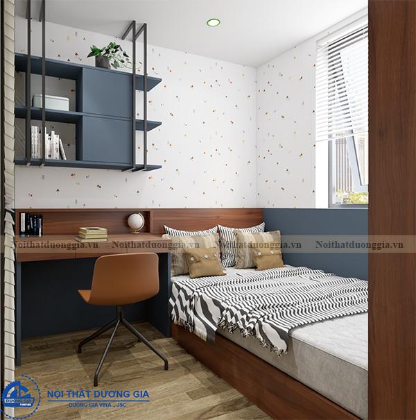 Thiết kế nội thất gia đình NTGD-DG14 - phòng ngủ 3 (view 1)