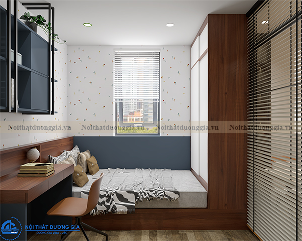 Thiết kế nội thất gia đình NTGD-DG14 - phòng ngủ 3 (view 2)