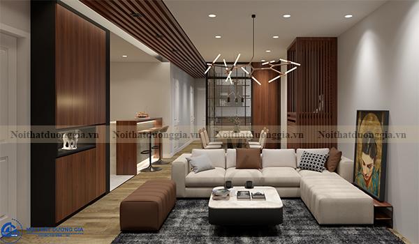 Thiết kế nội thất gia đình NTGD-DG14 - phòng khách (view 1)
