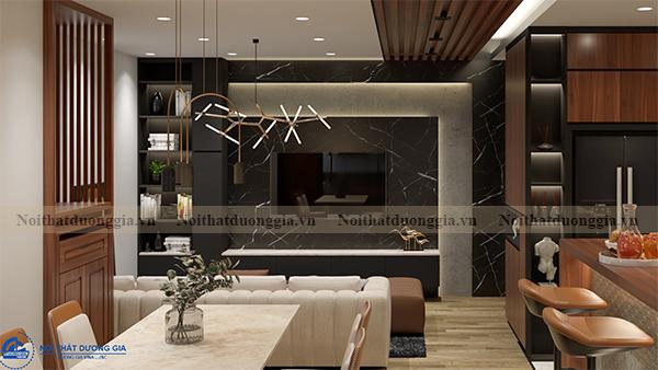 Thiết kế nội thất gia đình NTGD-DG14 - phòng khách (view 2)