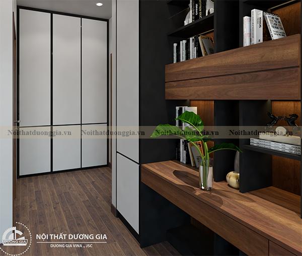 Thiết kế nội thất gia đình NTGD-DG17 - phòng ngủ con trai (view 3)