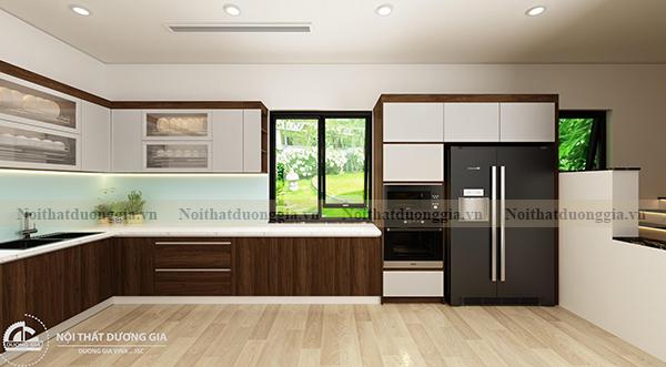 Thiết kế nội thất gia đình NTGD-DG17 - phòng bếp phương án 1 (view 2)