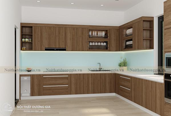 Thiết kế nội thất gia đình NTGD-DG17 - phòng bếp phương án 2 (view 2)