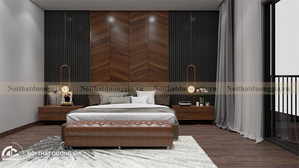 Thiết kế nội thất gia đình NTGD-DG17 - phòng ngủ master (view 2)