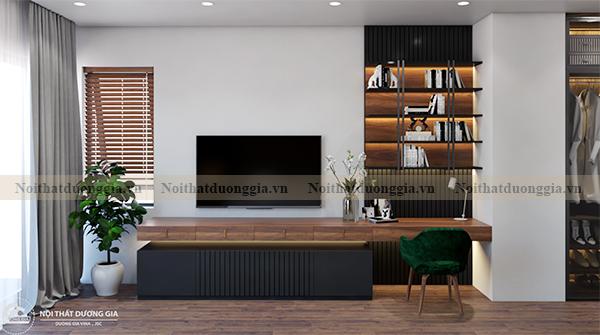 Thiết kế nội thất gia đình NTGD-DG17 - phòng ngủ master (view 3)