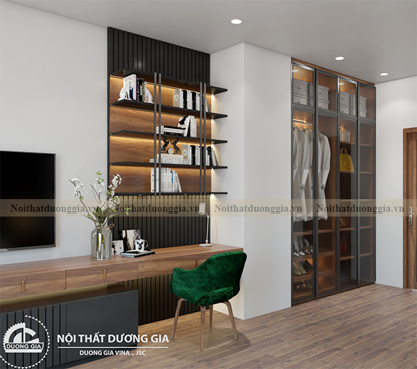 Thiết kế nội thất gia đình NTGD-DG17 - phòng ngủ master (view 4)