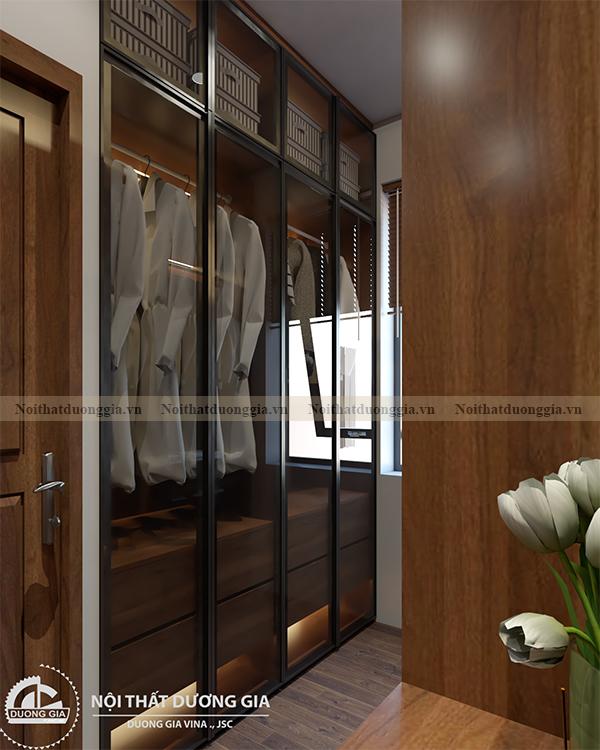 Thiết kế nội thất gia đình NTGD-DG17 - phòng ngủ master (view 6)