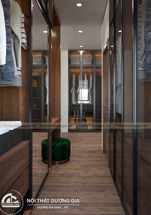 Thiết kế nội thất gia đình NTGD-DG17 - phòng ngủ master (view 7)