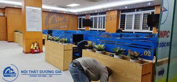 Ảnh thi công văn phòng Giao dịch viên - Điện lực Miền Bắc VP-DG27