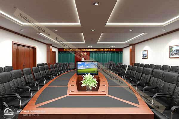 Nội thất phòng họp đẹp với chất liệu hiện đại