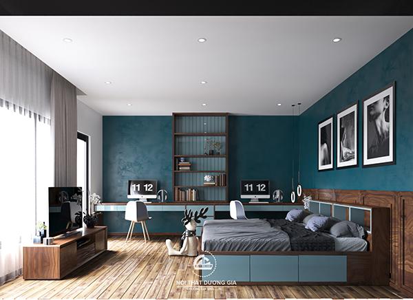 Các mẫu thiết kế nội thất gia đình: Phòng ngủ con ấn tượng