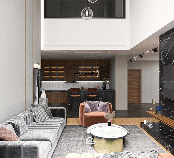 Mẫu nội thất phòng khách đẹp hiện đại 2021 số 6